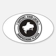Support Harpsichord Player Oval Decal
