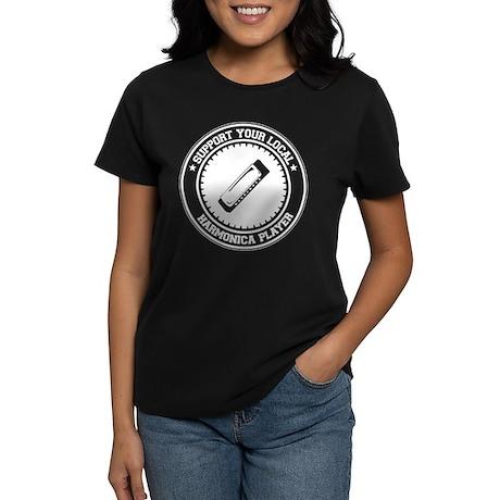 Support Harmonica Player Women's Dark T-Shirt