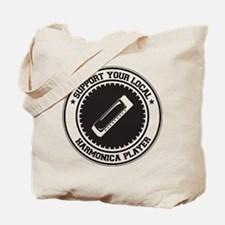 Support Harmonica Player Tote Bag
