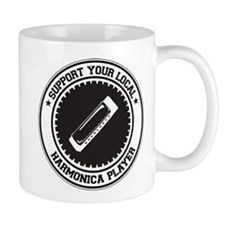 Support Harmonica Player Mug