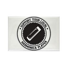 Support Harmonica Player Rectangle Magnet (100 pac