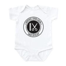 Support Hair Stylist Infant Bodysuit