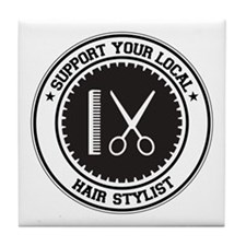 Support Hair Stylist Tile Coaster