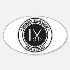 Support Hair Stylist Oval Decal