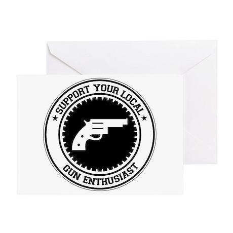 Support Gun Enthusiast Greeting Card