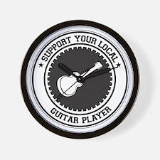 Support Guitar Player Wall Clock