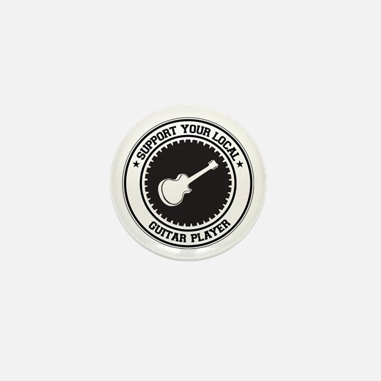 Support Guitar Player Mini Button