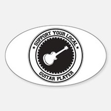 Support Guitar Player Oval Decal