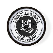 Support Grad Student Wall Clock