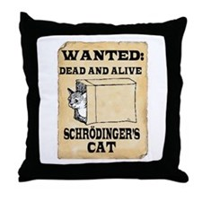 Schroedinger's Cat Throw Pillow