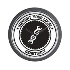 Support Geneticist Wall Clock