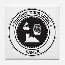 Support Gamer Tile Coaster