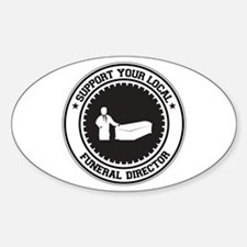 Support Funeral Director Oval Decal