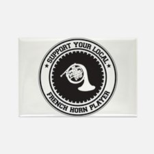 Support French Horn Player Rectangle Magnet