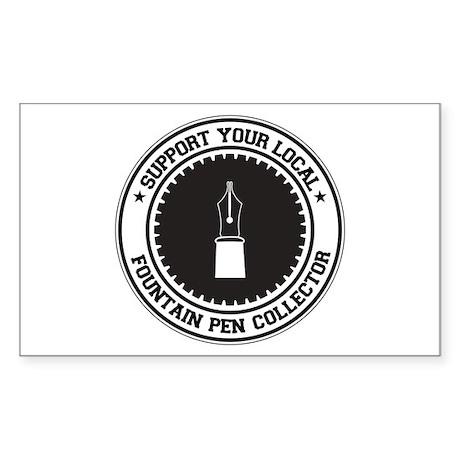 Support Fountain Pen Collector Rectangle Sticker