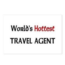 World's Hottest Travel Agent Postcards (Package of