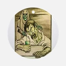 Absinthe Grim Reaper Ornament (Round)