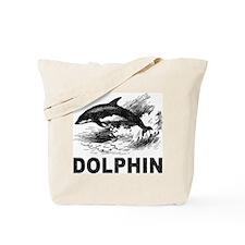 Vintage Dolphin Tote Bag