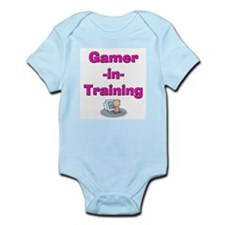 Gamer-in-Training (Pink) Infant Creeper