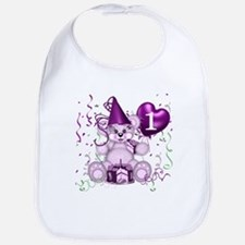 BIRTHDAY AGE: 1 (purple) Bib