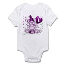 BIRTHDAY AGE: 1 (purple) Infant Bodysuit