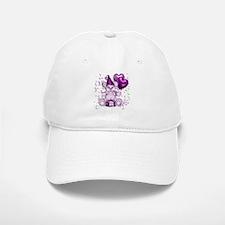 BIRTHDAY/BALLOONS (purp) Baseball Baseball Cap
