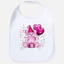 BIRTHDAY/BALLOONS (pink) Bib