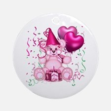 BIRTHDAY/BALLOONS (pink) Ornament (Round)