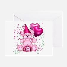 BIRTHDAY/BALLOONS (pink) Greeting Card