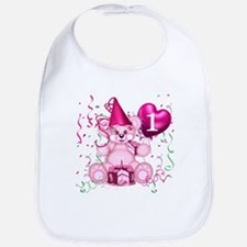 BIRTHDAY AGE 1 (pink) Bib
