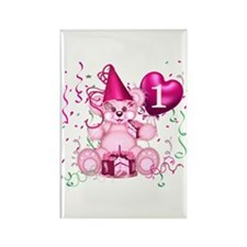 BIRTHDAY AGE 1 (pink) Rectangle Magnet