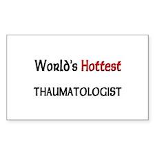 World's Hottest Thaumatologist Rectangle Sticker