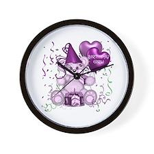 BIRTHDAY GIRL (purp) Wall Clock
