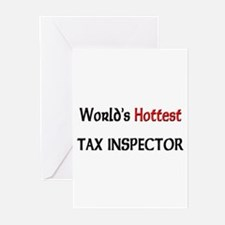 World's Hottest Tax Inspector Greeting Cards (Pk o