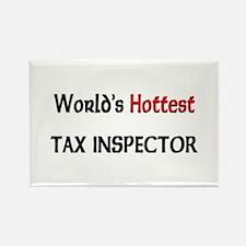 World's Hottest Tax Inspector Rectangle Magnet