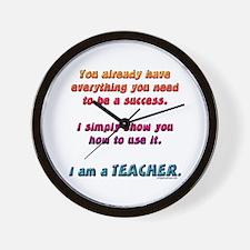 Everything you need teacher Wall Clock