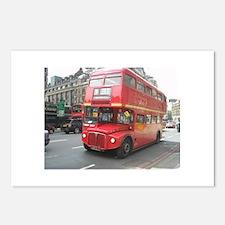 Cute London bus Postcards (Package of 8)