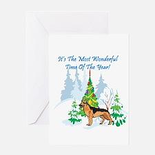 Christmas Time German Shepard Greeting Card