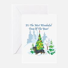 Christmas Time Dachshund Greeting Cards (Pk of 10)