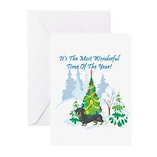 Christmas Time Dachshund Greeting Cards (Pk of 20)