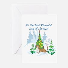 Christmas Time Corgi Greeting Cards (Pk of 10)