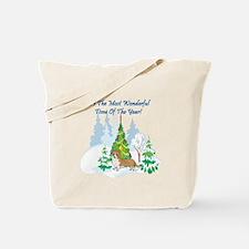Christmas Time Corgi Tote Bag