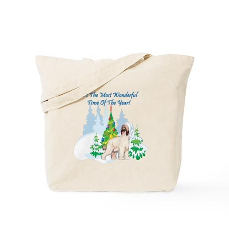 Christmas Time Afghan Hound Tote Bag