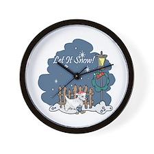 Let It Snow Westie Wall Clock