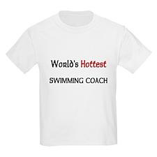World's Hottest Swimming Coach Kids Light T-Shirt
