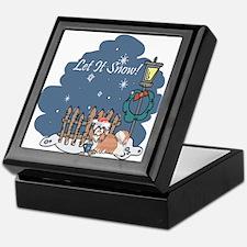 Let It Snow Shih Tzu Keepsake Box