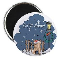 Let It Snow Shar Pei Magnet