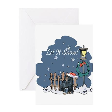 Let It Snow Scottie Greeting Card
