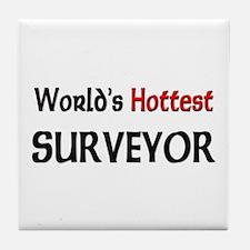 World's Hottest Surveyor Tile Coaster