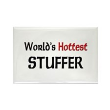 World's Hottest Stuffer Rectangle Magnet